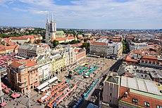 Kathedrale von Zagreb und Ban-Jelačić-Platz