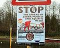 Zebra mussels sign, Antrim - geograph.org.uk - 1625378.jpg