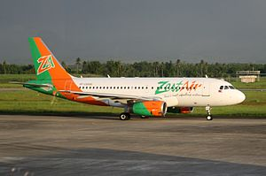 AirAsia Zest - Zest Airways Airbus A319 at the Bacolod-Silay Airport