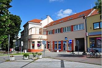 Zlaté Moravce - View of the town center