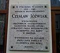 Zydowska 30, Poznan. Czeslaw Jozwiak plaque.jpg