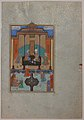 """Bahram Gur in the Sandal Palace on Thursday"", Folio 230 from a Khamsa (Quintet) of Nizami MET sf13-228-7-f230r.jpg"
