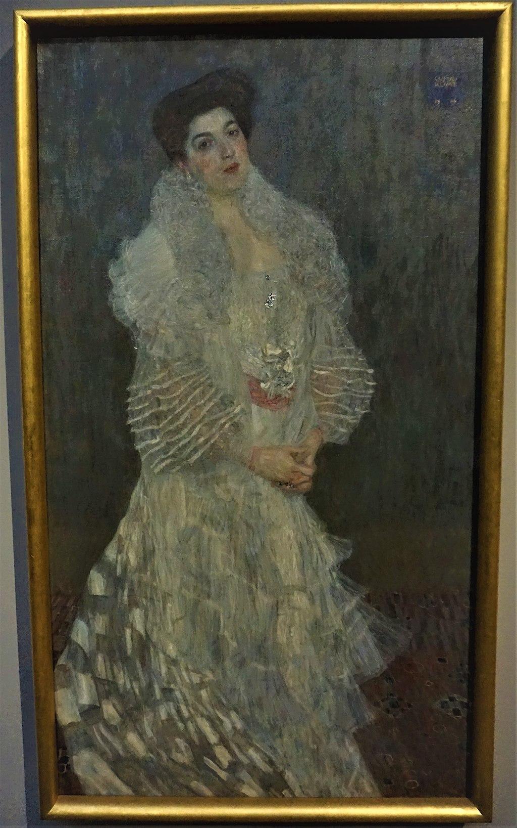 """Portrait of Hermine Gallia"" by Gustav Klimt"