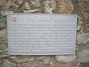 The Wool House - The Wool House plaque