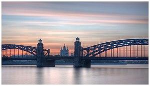 Bolsheokhtinsky Bridge - Image: (Большеохтинский) Петра Великого