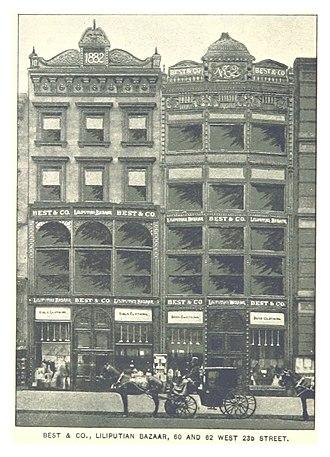 Best & Co. - Image: (King 1893NYC) pg 862 BEST & CO. LILIPUTIAN BAZAAR, 60 AND 62 WEST 23D STREET