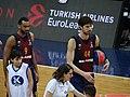 Ádám Hanga 9 FC & Ante Tomić (basketball) 44 Barcelona Bàsquet 20180126.jpg
