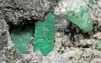 Malipo County - Emerald crystals, Dayakou emerald mine, Malipo County