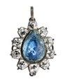 Örhänge av silver med bergkristall på folie, 1700-tal - Hallwylska museet - 110391.tif