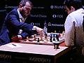 Şəhriyar Məmmədyarov und Wladimir Kramnik, Kandidatenturnier Berlin 2018, 6. Runde.jpg