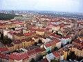 Žižkov a Vinohrady, pohled z žižkovské věže směr Vršovice.jpg