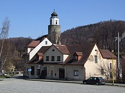 Žulová (Friedberg) - view from market square.JPG