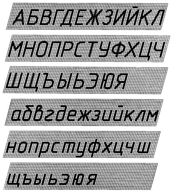 гост 2.304 81 ескд шрифты чертежные