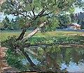 Е.Д. Россинская. Дерево у пруда. 1950-е.jpg