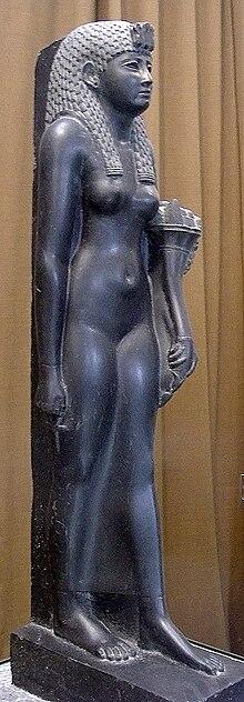 Statue de la reine Cléopâtre VII, seconde moitié du Ier siècle avant J.-C. Musée de l'Ermitage, Saint-Pétersbourg.