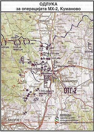 Operation MH-2 - Image: Одлука за воена операција МХ 2 Куманово 2001