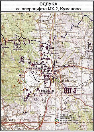 2001 insurgency in the Republic of Macedonia - Plan for the military action МH-2 in Kumanovo