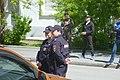 Сотрудницы полиции на охране митинга против повышения платы за проезд в Екатеринбурге 26 мая 2019 года.jpg