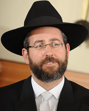 Chief Rabbinate of Israel - Rabbi David Lau, b. 1966, elected in 2013 as Ashkenazi Chief Rabbi