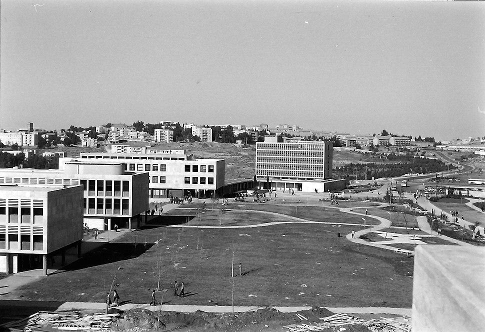 קמפוס גבעת רם, ירושלים, שנות ה-50. סריקת נגטיב מתוך אוסף האדריכלית זיוה ארמוני, ארכיון אדריכלות ישראל