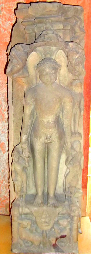 Sambhavanatha - Image of Tirthankara Sambhavnatha at Gwalior Fort museum