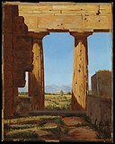 """Columns of the Temple of Neptune at Paestum"" by Constantin Hansen (Danish, Rome 1804–1880 Frederiksberg) via The Metropolitan Museum of Art is licensed under CC0 1.0.jpg"