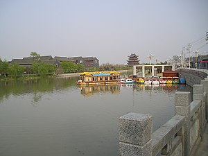 Caoyun system - The former north-south interchange of the Cáoyùn system at Qingxiangpu (清江浦) in Jiangsu Province