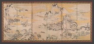 <i>Jinshan Island and West Lake</i> 1630 painting by Kanō Sanraku