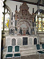 008 Stoke Rochford Ss Andrew & Mary, interior - south chapel Cholmoley monument.jpg