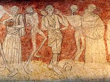 Fragment De La Fresque Danse Macabre Milieu Du XV E Sicle