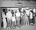 02213 Grand Canyon Visitors at Information Desk 1951 (4739747988).jpg