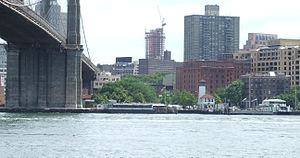 Fulton Ferry, Brooklyn - Ferry slip from East River