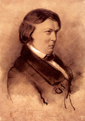 Robert Schumann, 1853, Zeichnung von Jean-Joseph-Bonaventure Laurens (Quelle: Wikimedia)