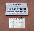 092 Jardins de Jaume Perich, placa commemorativa.jpg