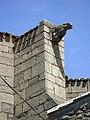 093 Església de Sant Miquel, contrafort i gàrgola.jpg