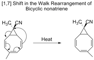 Sigmatropic reaction - walk rearrangement of bicycle nonatriene