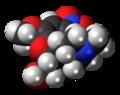 1-Nitrocodeine molecule spacefill.png