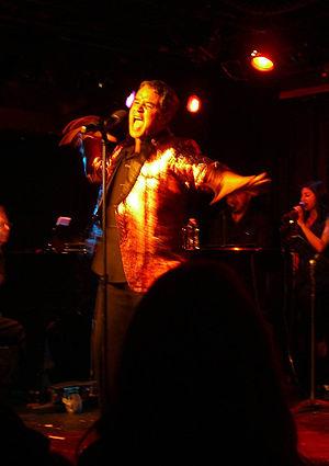 Lucio Fernandez - Fernandez performing in his autobiographical show, Lucio... Less Cuban Than Ever