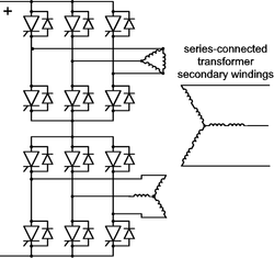 12-pulse line-commutated inverter circuit