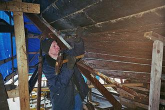 Boat building - Caulking a wooden boat