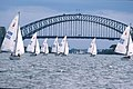 141100 - Sailing Sydney Harbour Bridge view - 3b - 2000 Sydney race photo.jpg
