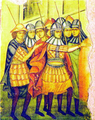 1500 - Soldati moldoveni, fresca Manastirea Parhauti.png