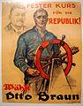 150 Jahre deutsche Sozialdemokratie Ausstellung 2013 1924 Wahlplakat Fester Kurs für die Republik! Wählt Otto Braun Fritz Otto Kirchbach Rotophot AG Berlin.jpg