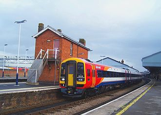 British Rail Class 159 - The first Class 159/1 to be refurbished was 159102 and is seen at Salisbury on the launch day in December 2006