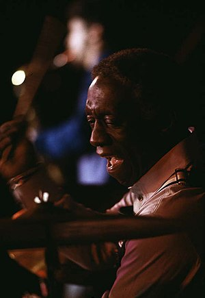 Art Blakey - Performing at the Umeå jazz festival, Sweden. 1979