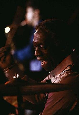 Art Blakey - Performing at the Umeå jazz festival, Sweden. 1979