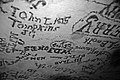 1800s smoke signatures (Gothic Avenue, Mammoth Cave, Kentucky, USA) 3 (38160980272).jpg