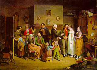 """The Country Wedding"" de John Lewis Krimmel (1786-1821)"