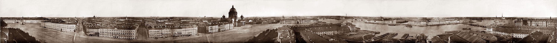 Панорама Санкт-Петербурга из 13 кадров, сделанная с башни Адмиралтейства. 1861 г.