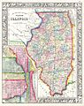 1861 Mitchell's Map of Illinois w- Chicago Inset - Geographicus - IL-m-60.jpg